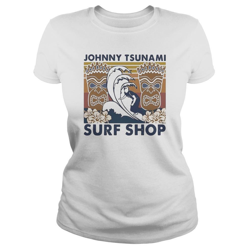 Vintage Surfing Johnny Tsunami Surf Shop Longsleeve