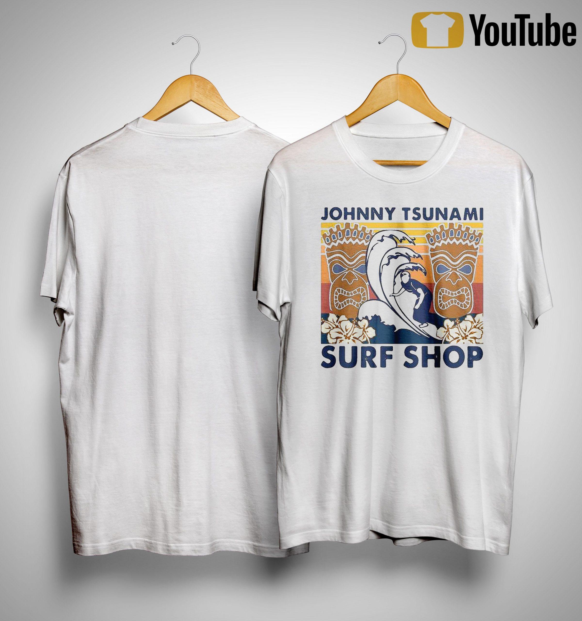 Vintage Surfing Johnny Tsunami Surf Shop Shirt