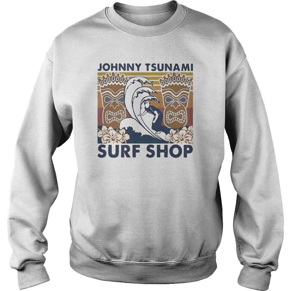 Vintage Surfing Johnny Tsunami Surf Shop Sweater