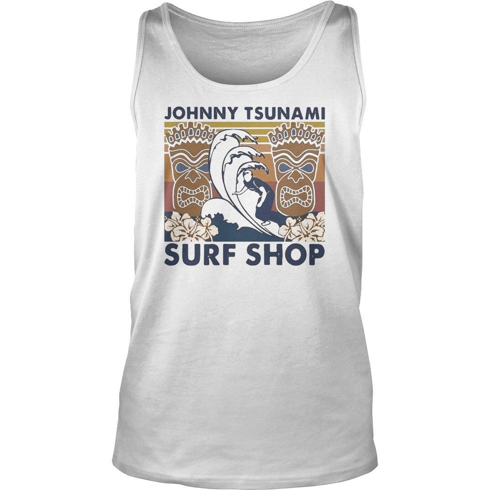 Vintage Surfing Johnny Tsunami Surf Shop Tank Top