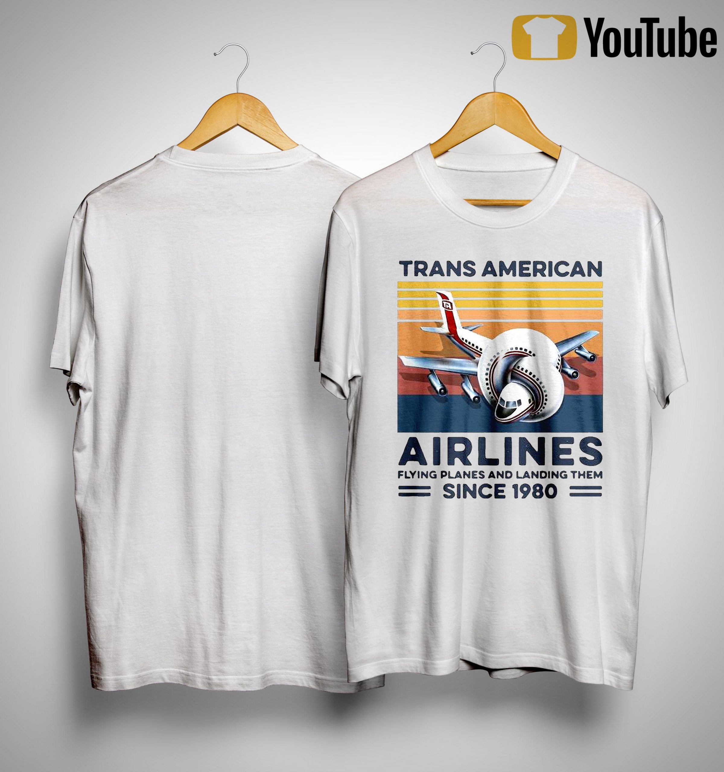 Vintage Trans American Airlines Flying Planes And Landing Them Since 1980 Shirt