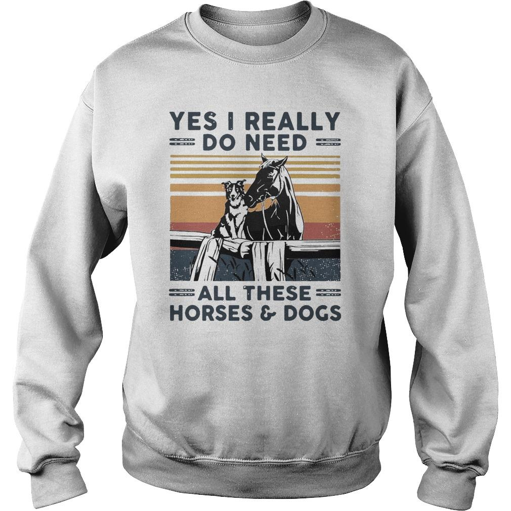 Vintage Yes I Really Do Need All These Horses And Dogs Sweater