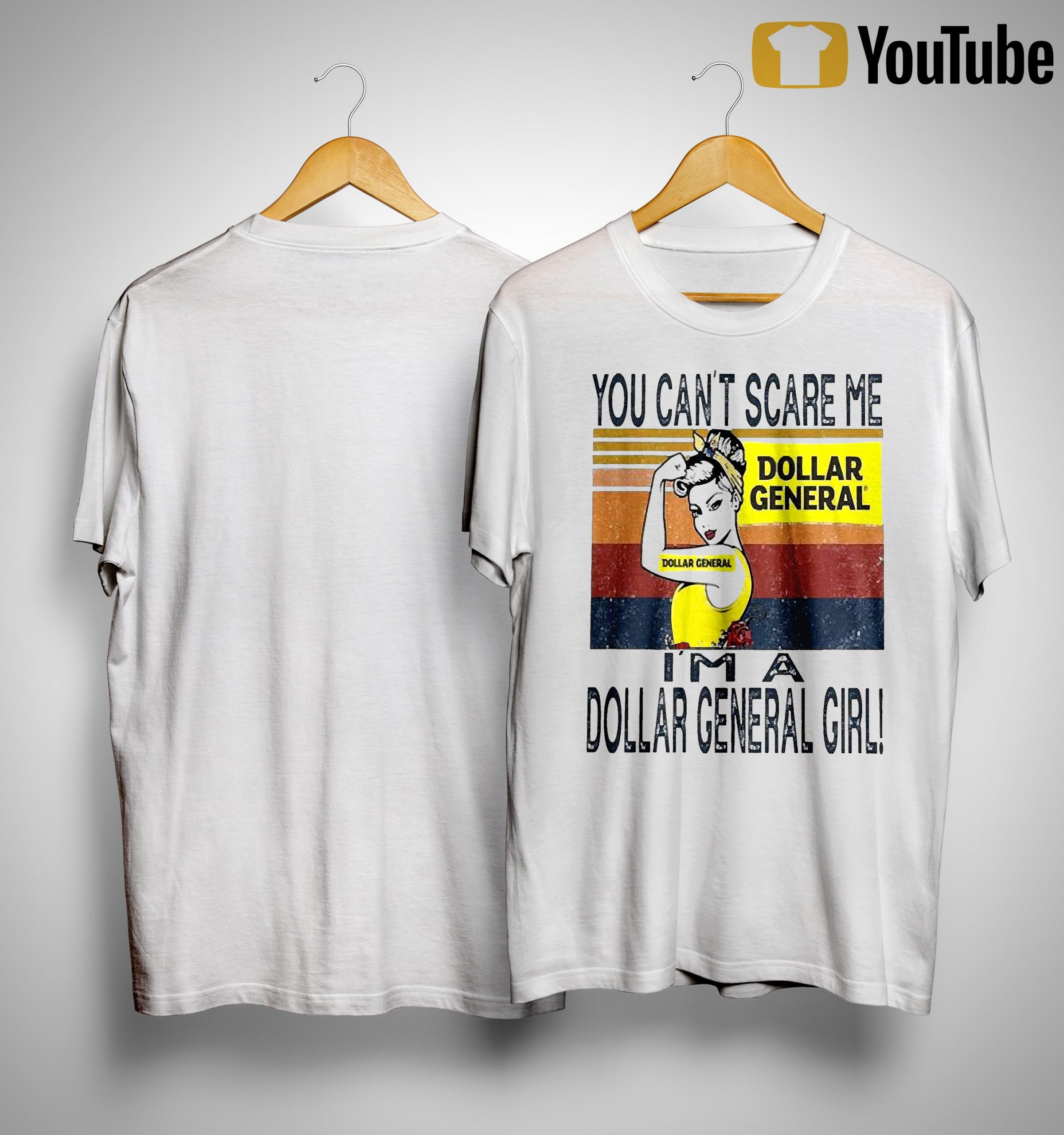 Vintage You Can't Scare Me I'm A Dollar General Girl Shirt