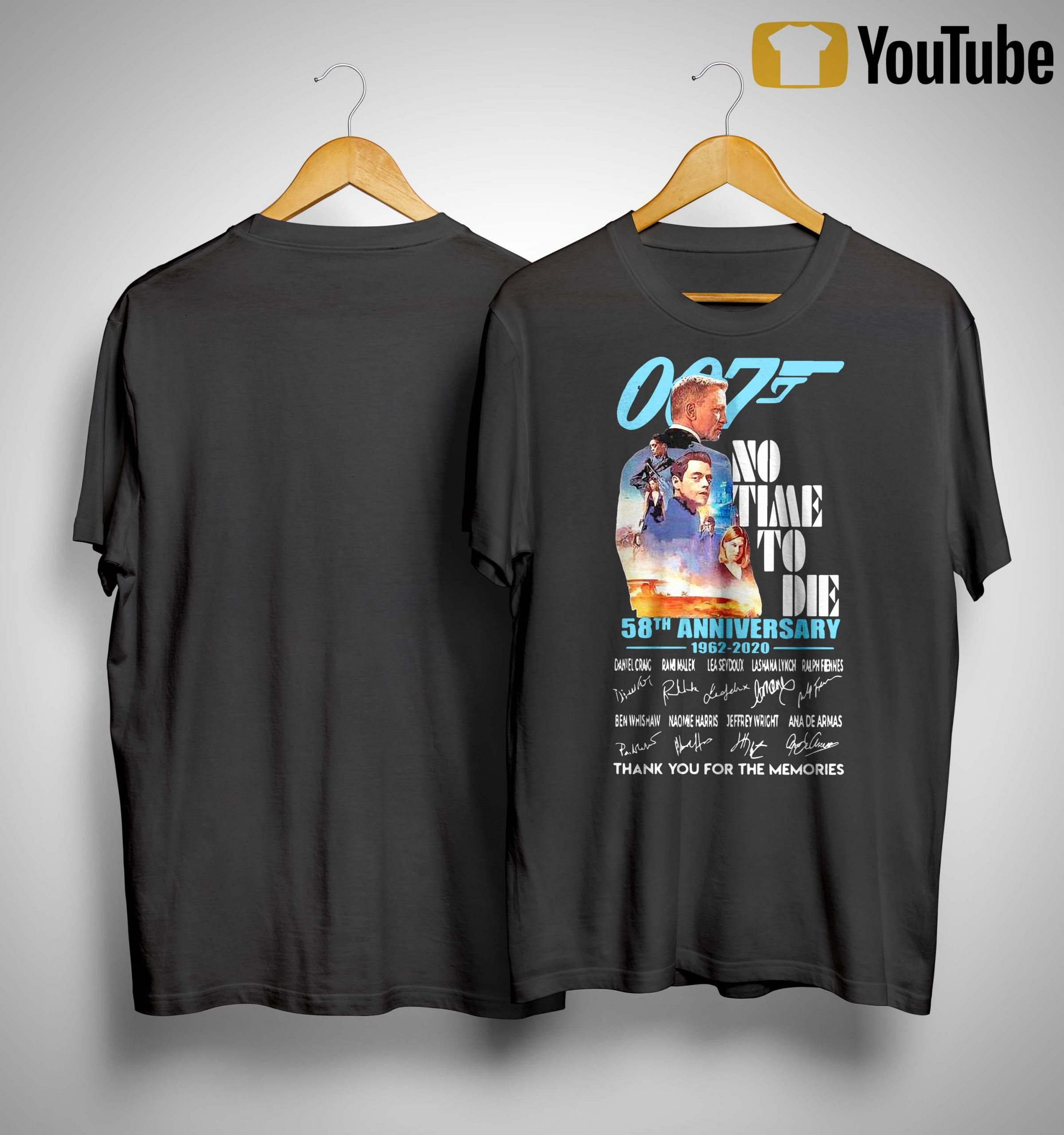 007 James Bond No Time To Die 58th Anniversary 1962 2020 Shirt