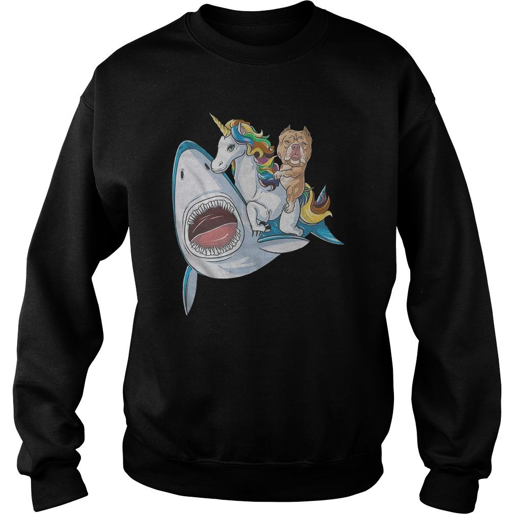 Bulldog Shark Unicorn Friends Sweater