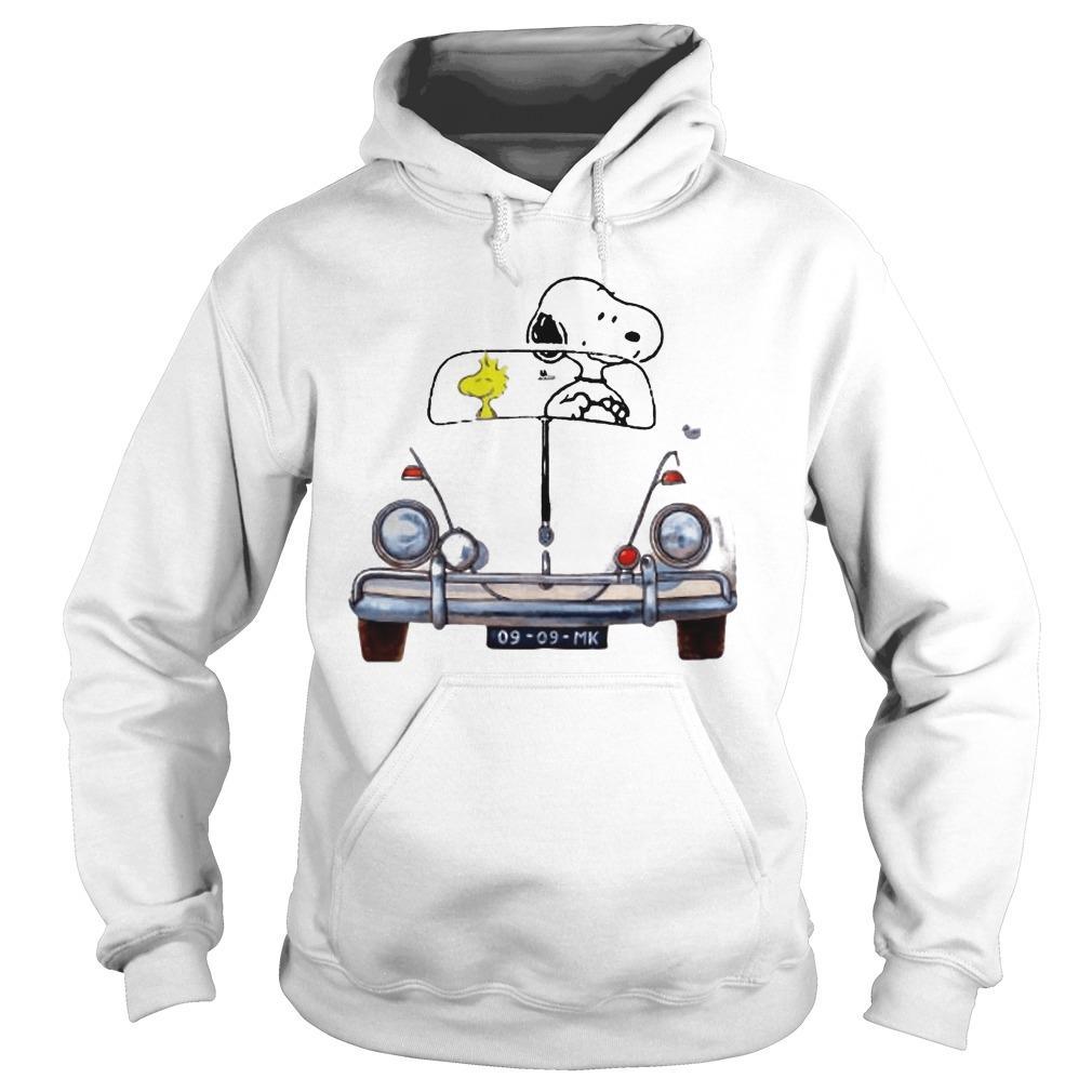 Car Snoopy And Woodstock Car 176 Vw Beetle 9 9 Mk Hoodie