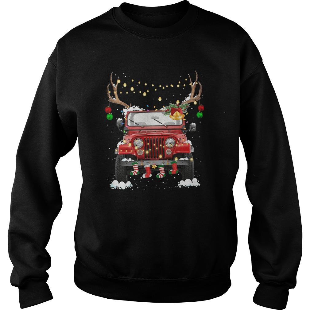 Christmas Jeep Sweater