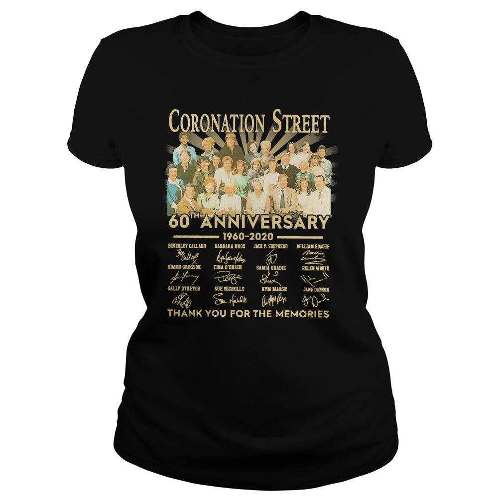 Coronation Street 60th Anniversary 1960 2020 Thank You For The Memories Longsleeve
