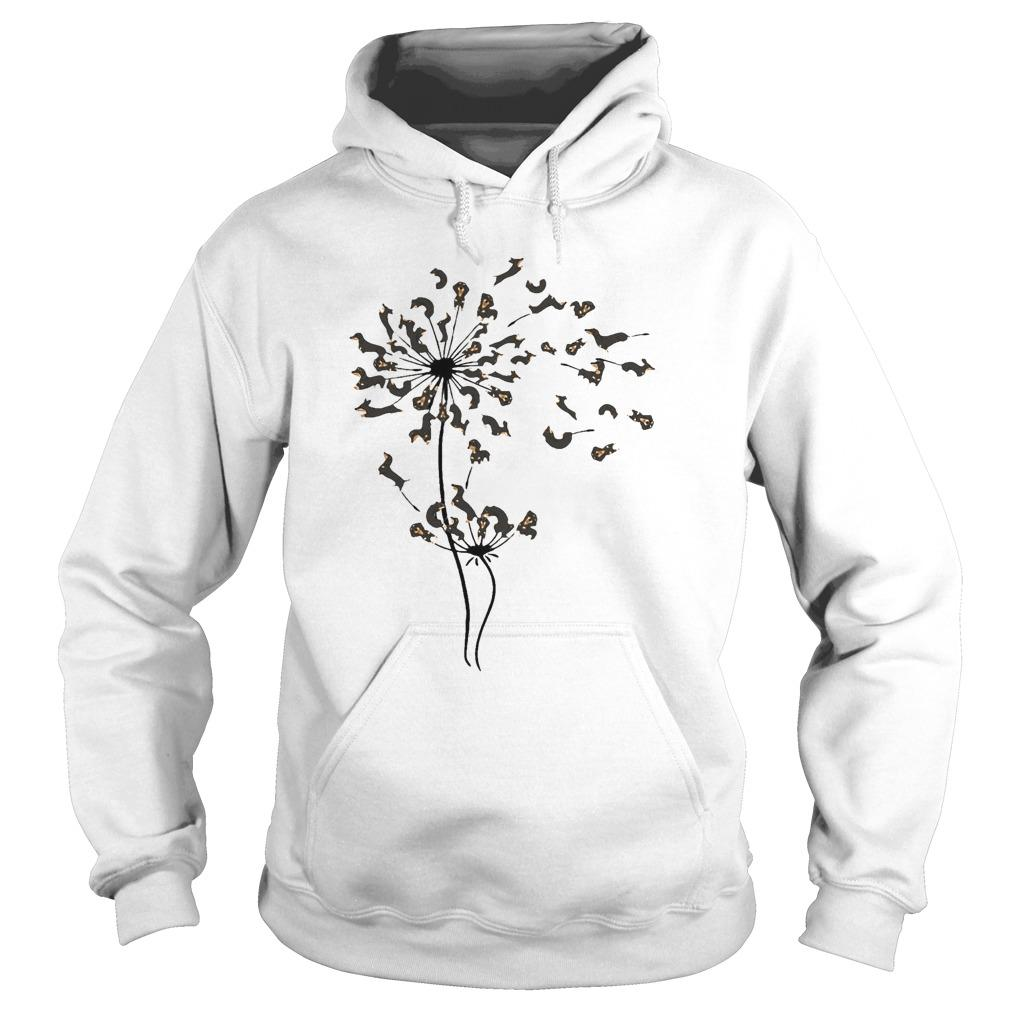 Dachshund Dandelion Flower Hoodie