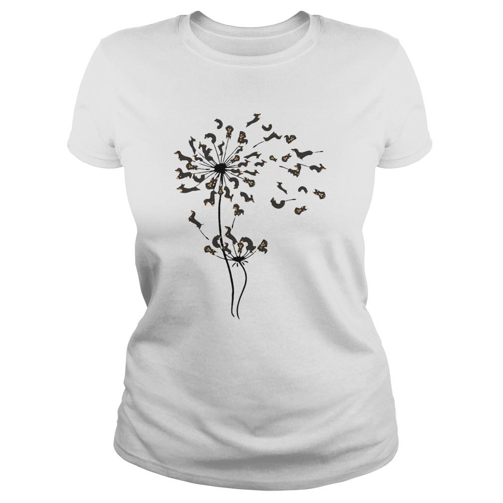 Dachshund Dandelion Flower Longsleeve
