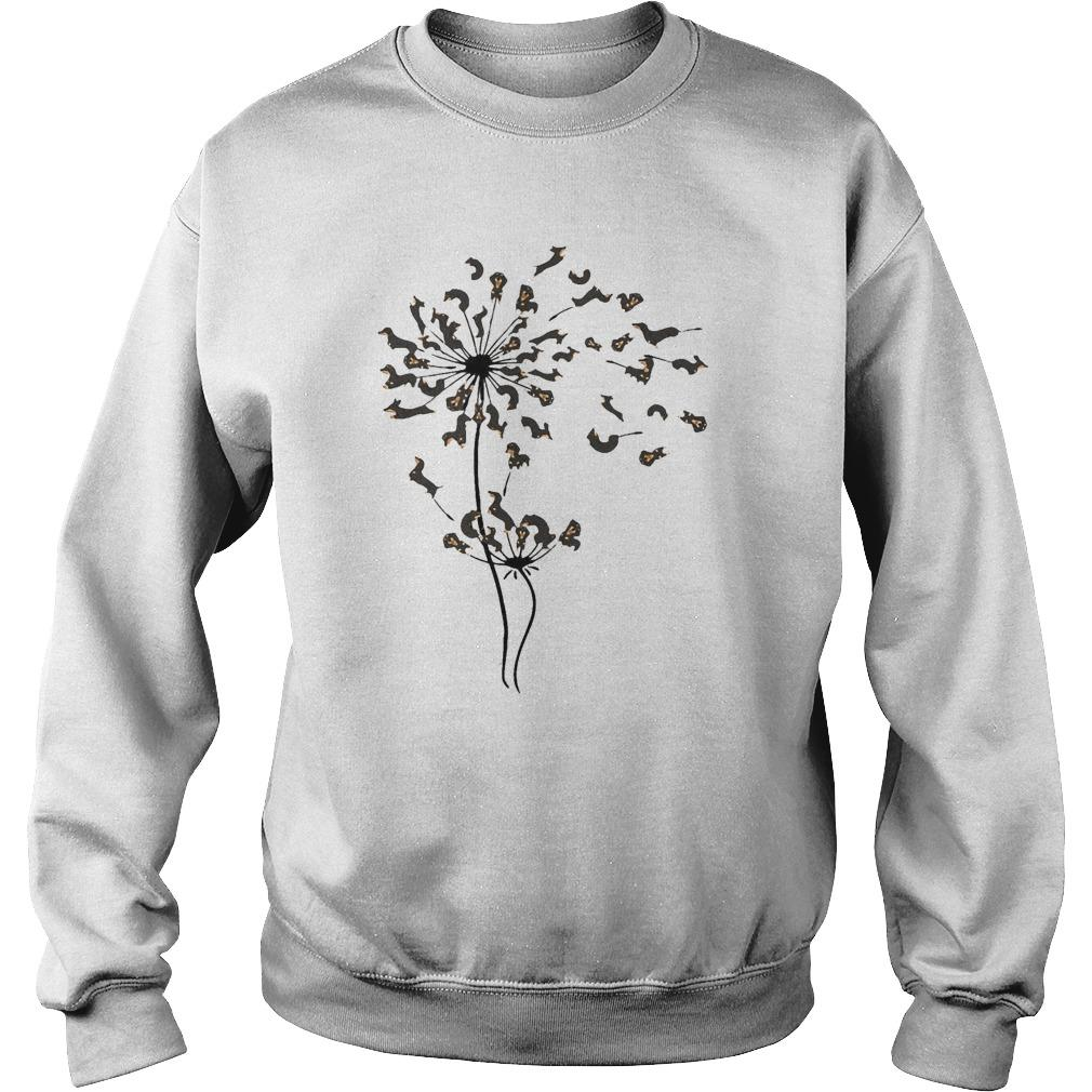 Dachshund Dandelion Flower Sweater