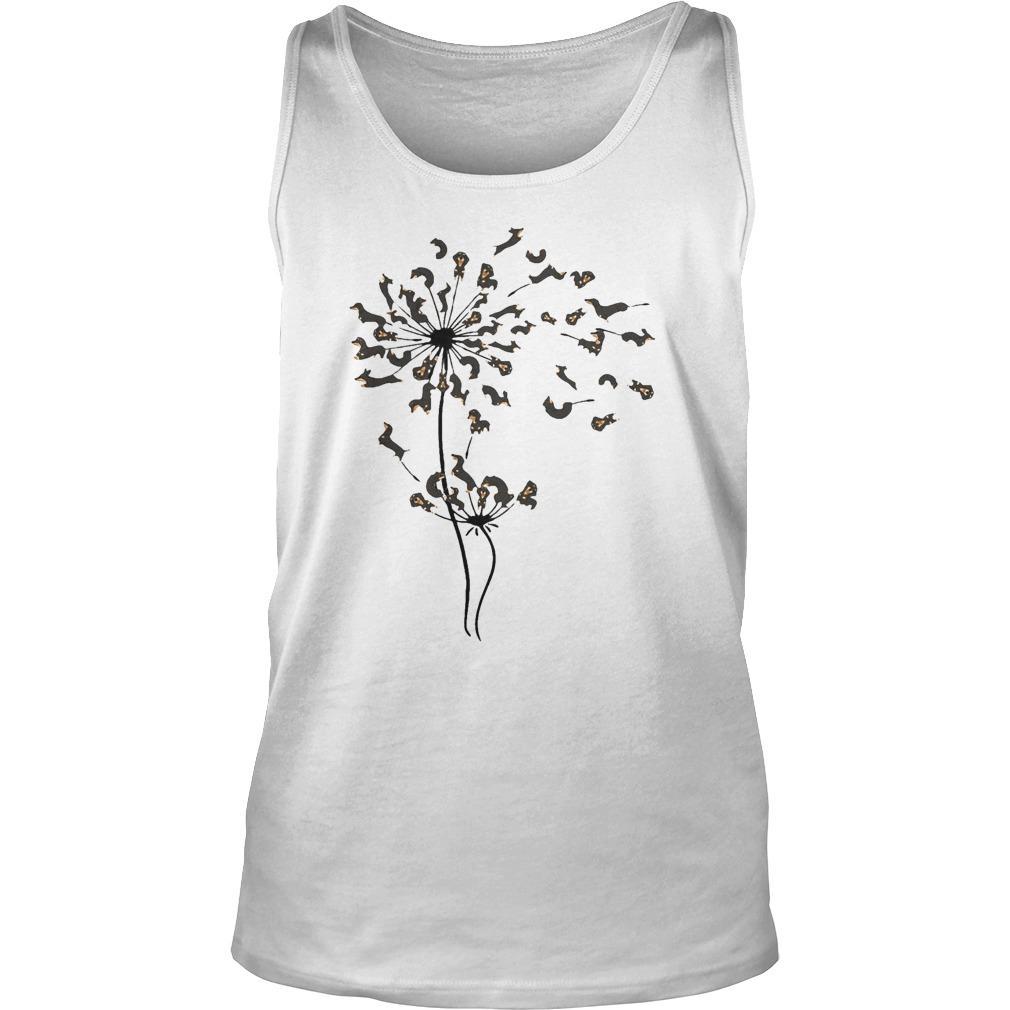 Dachshund Dandelion Flower Tank Top