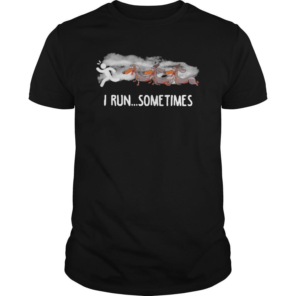 Dachshund I Run Sometimes Longsleeve