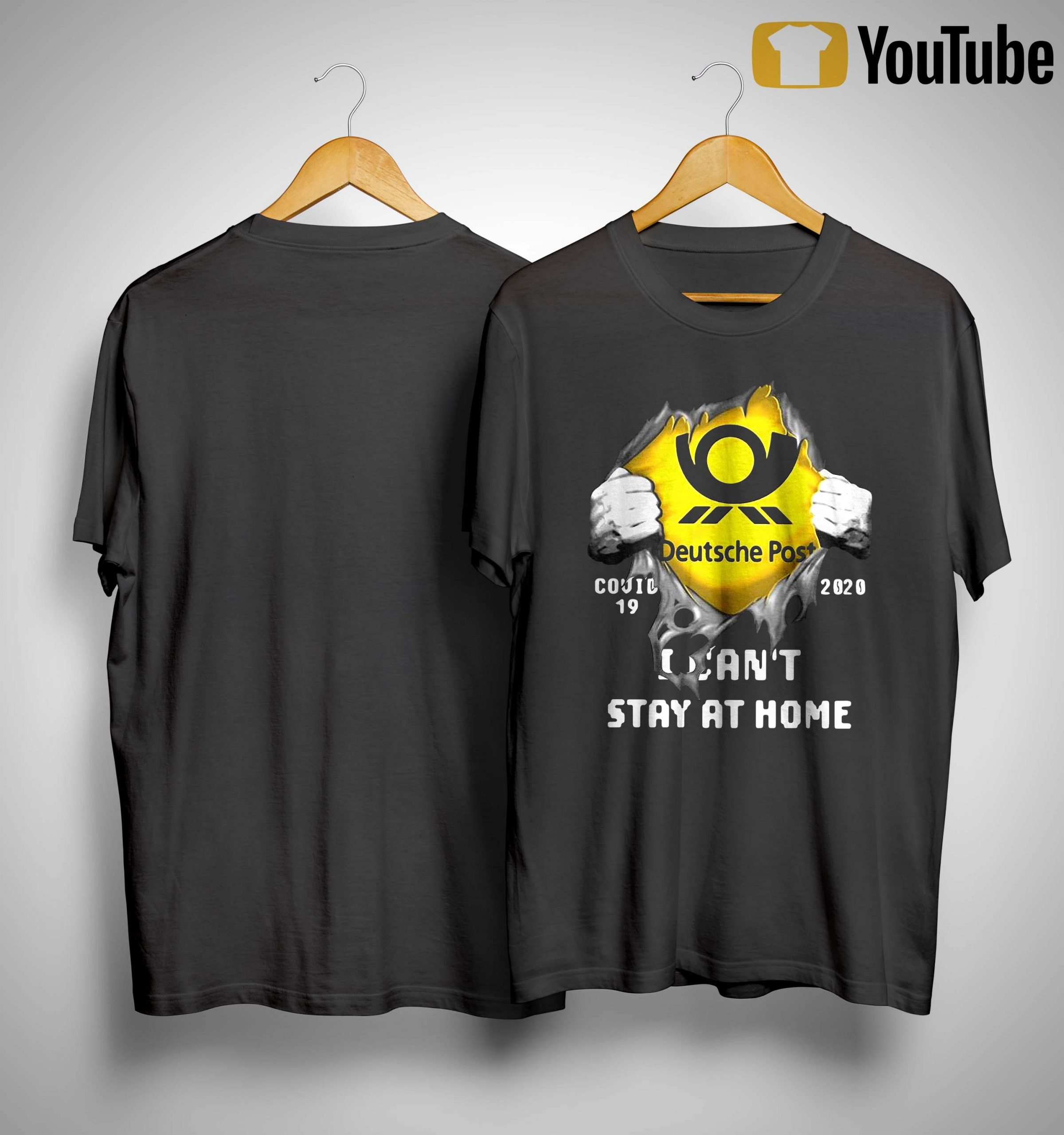 Deutsche Post Covid 19 2020 I Can't Stay At Home Shirt