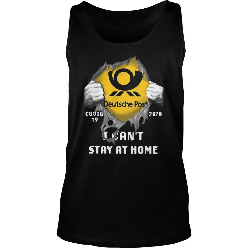 Deutsche Post Covid 19 2020 I Can't Stay At Home Tank Top
