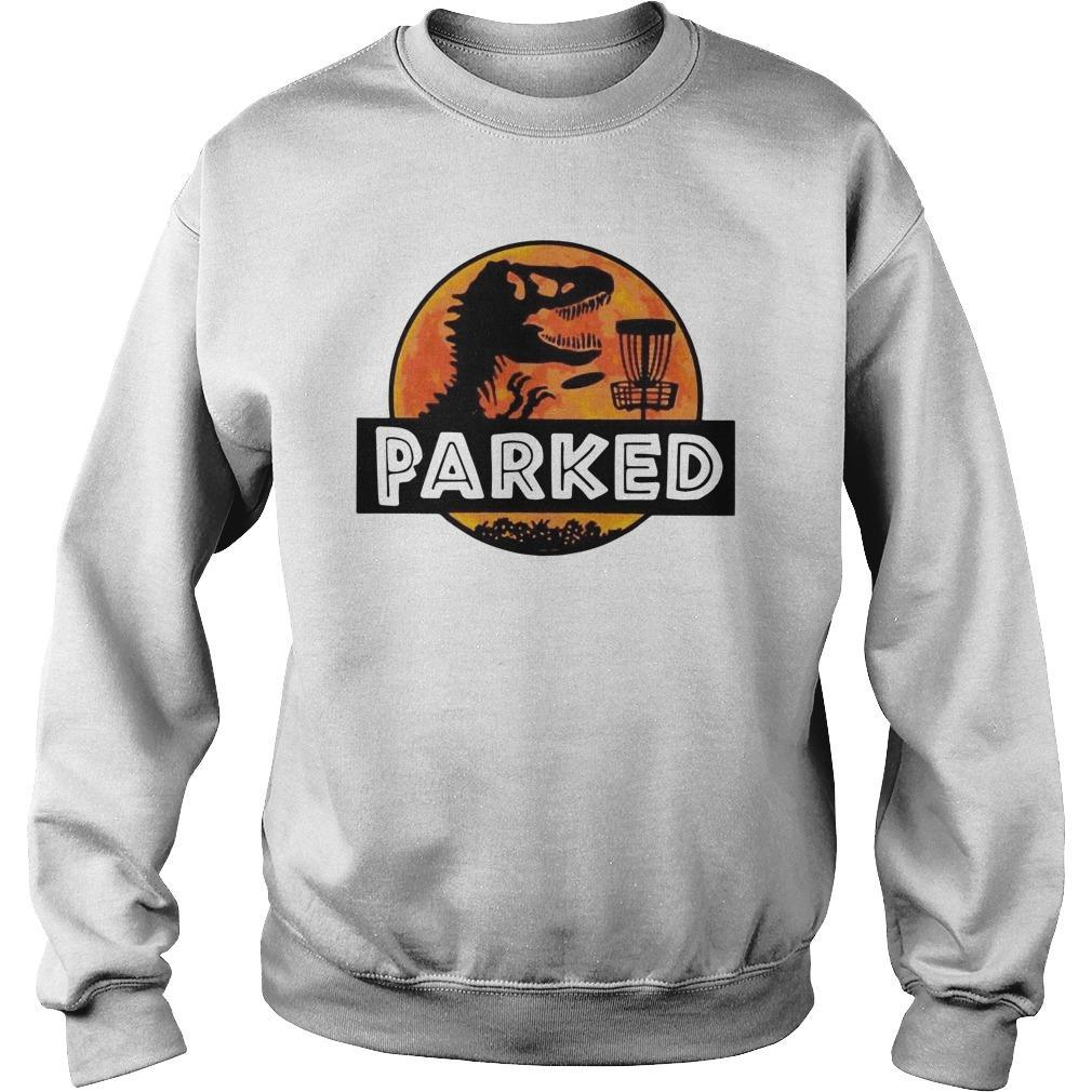 Disc Golf T Rex Parked Sweater