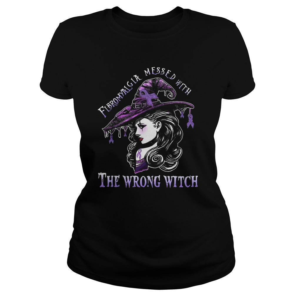 Fibromyalgia Messed With The Wrong Witch Longsleeve