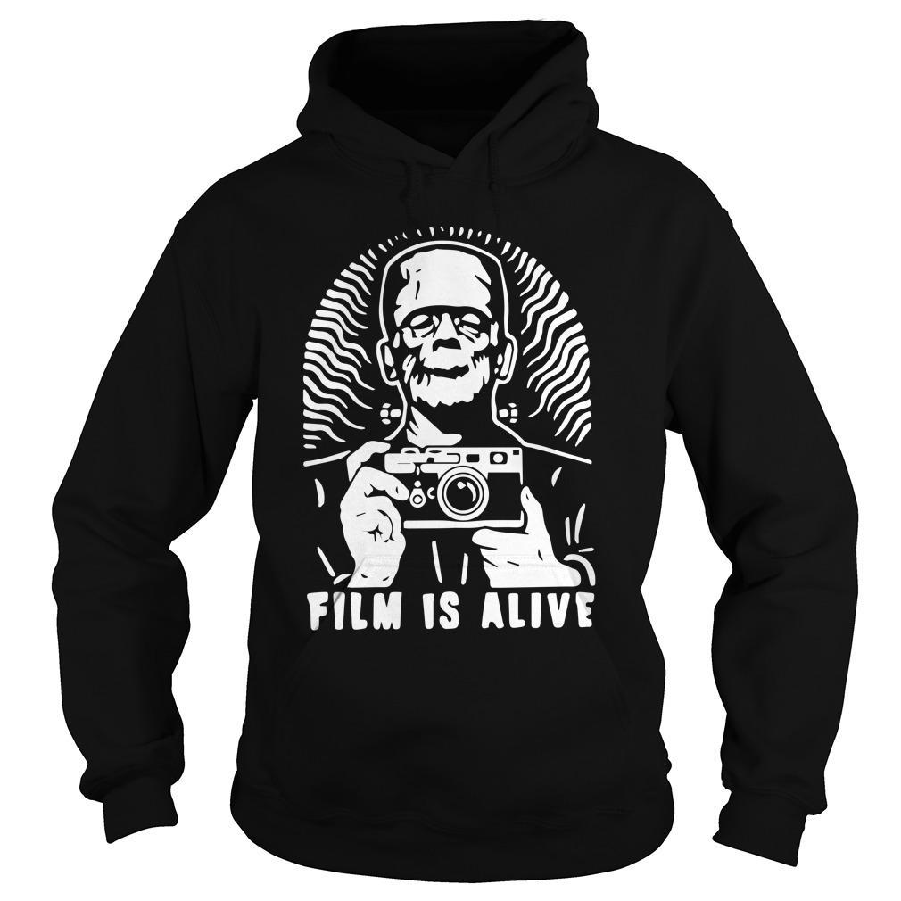 Halloween Frankenstein Photograph Film Is Alive Hoodie