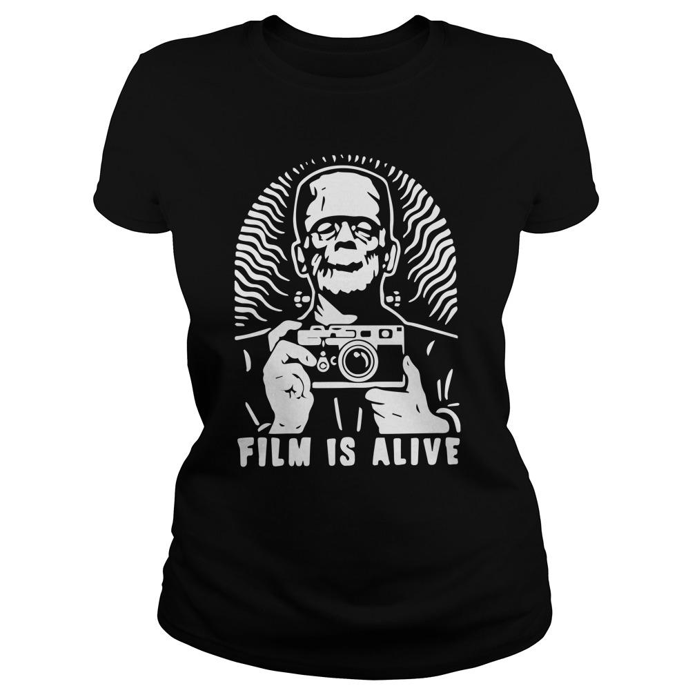 Halloween Frankenstein Photograph Film Is Alive Longsleeve