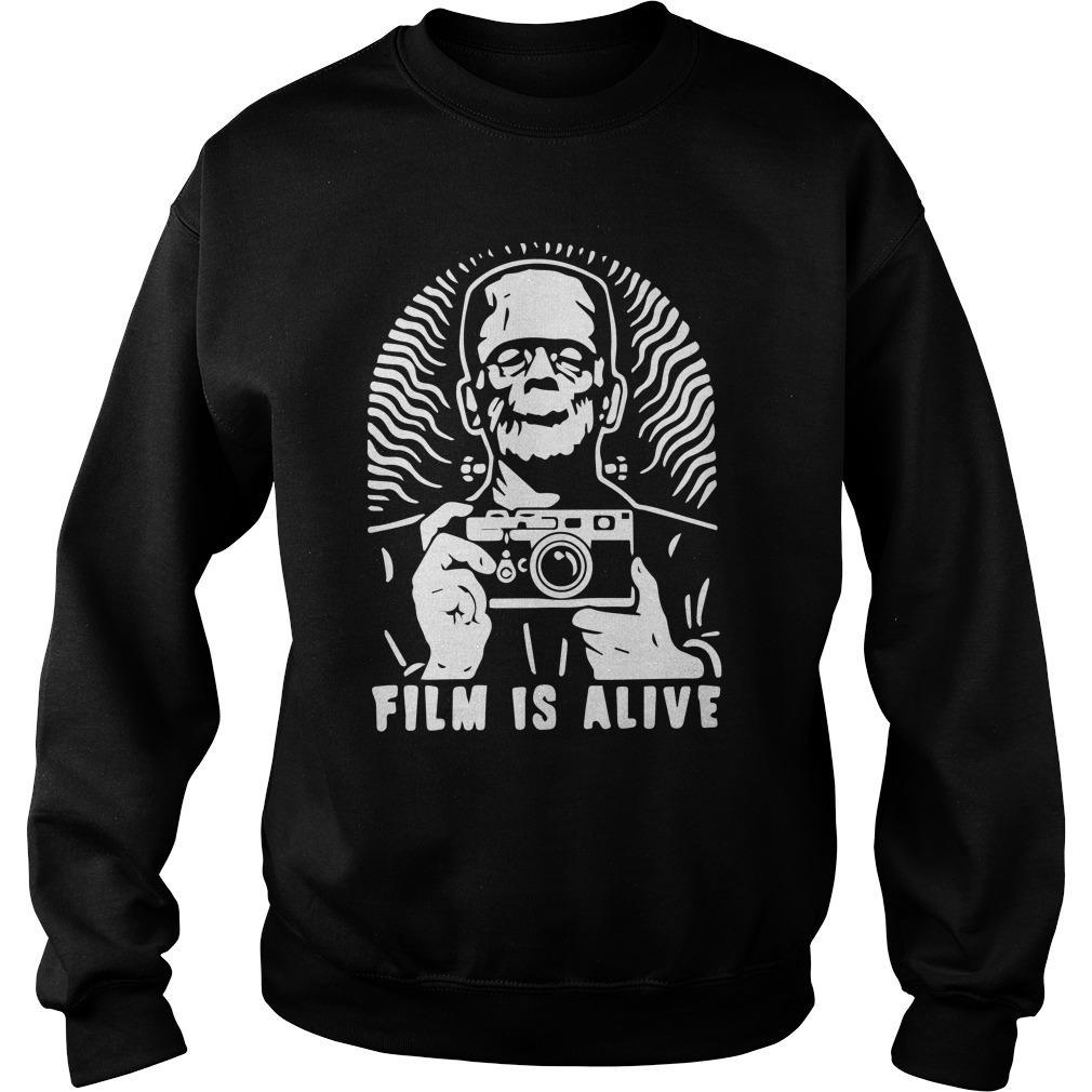 Halloween Frankenstein Photograph Film Is Alive Sweater