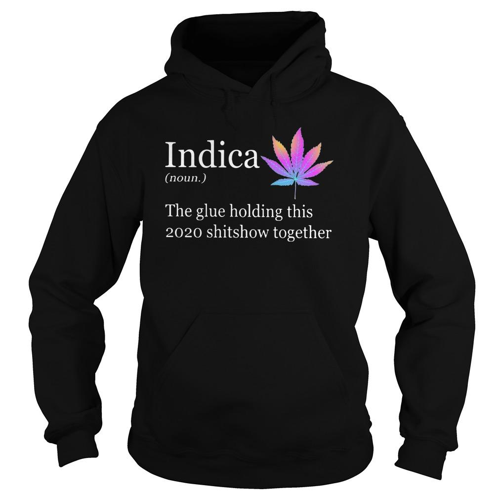 Indica The Glue Holding This 2020 Shitshow Together Hoodie