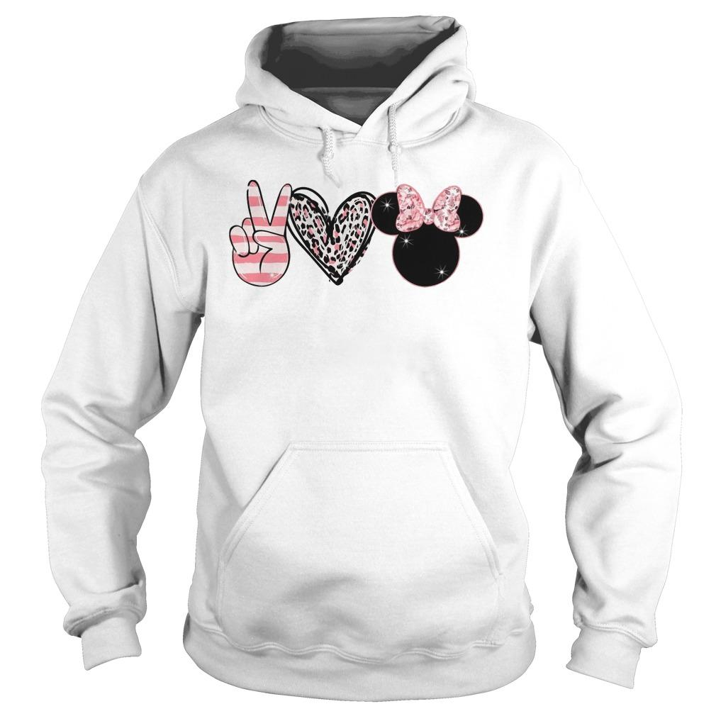 Minnie Peace Love Magic Hoodie