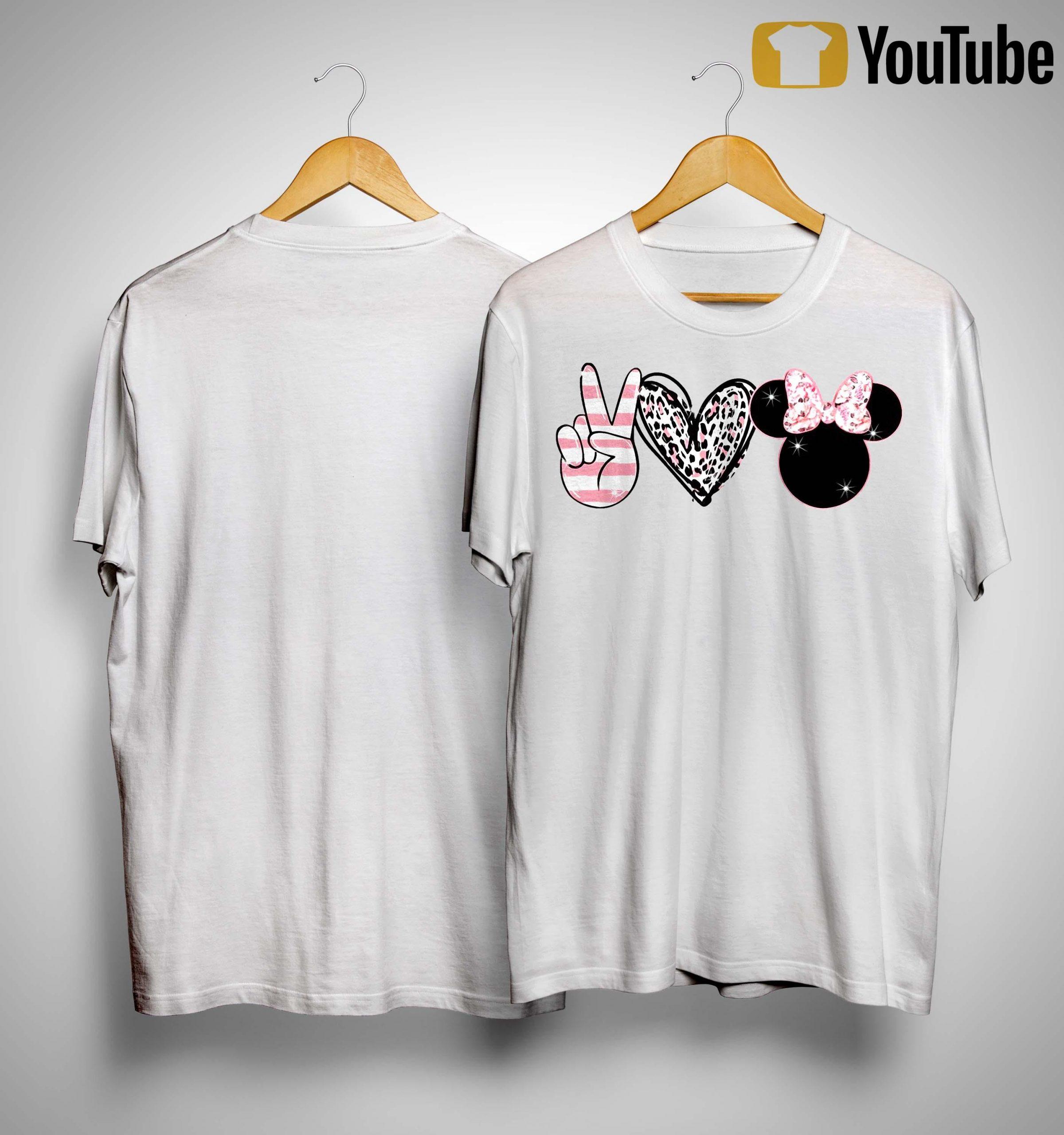 Minnie Peace Love Magic Shirt
