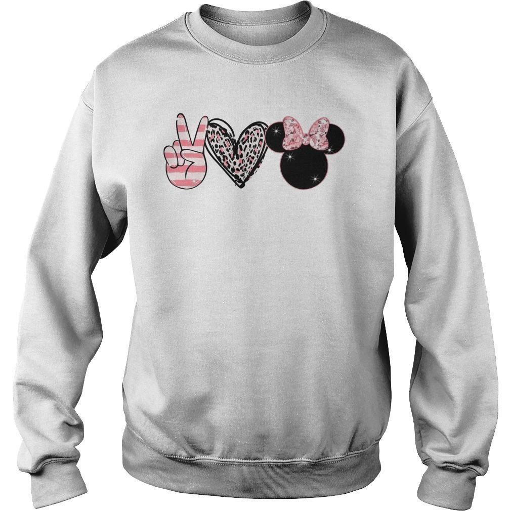 Minnie Peace Love Magic Sweater