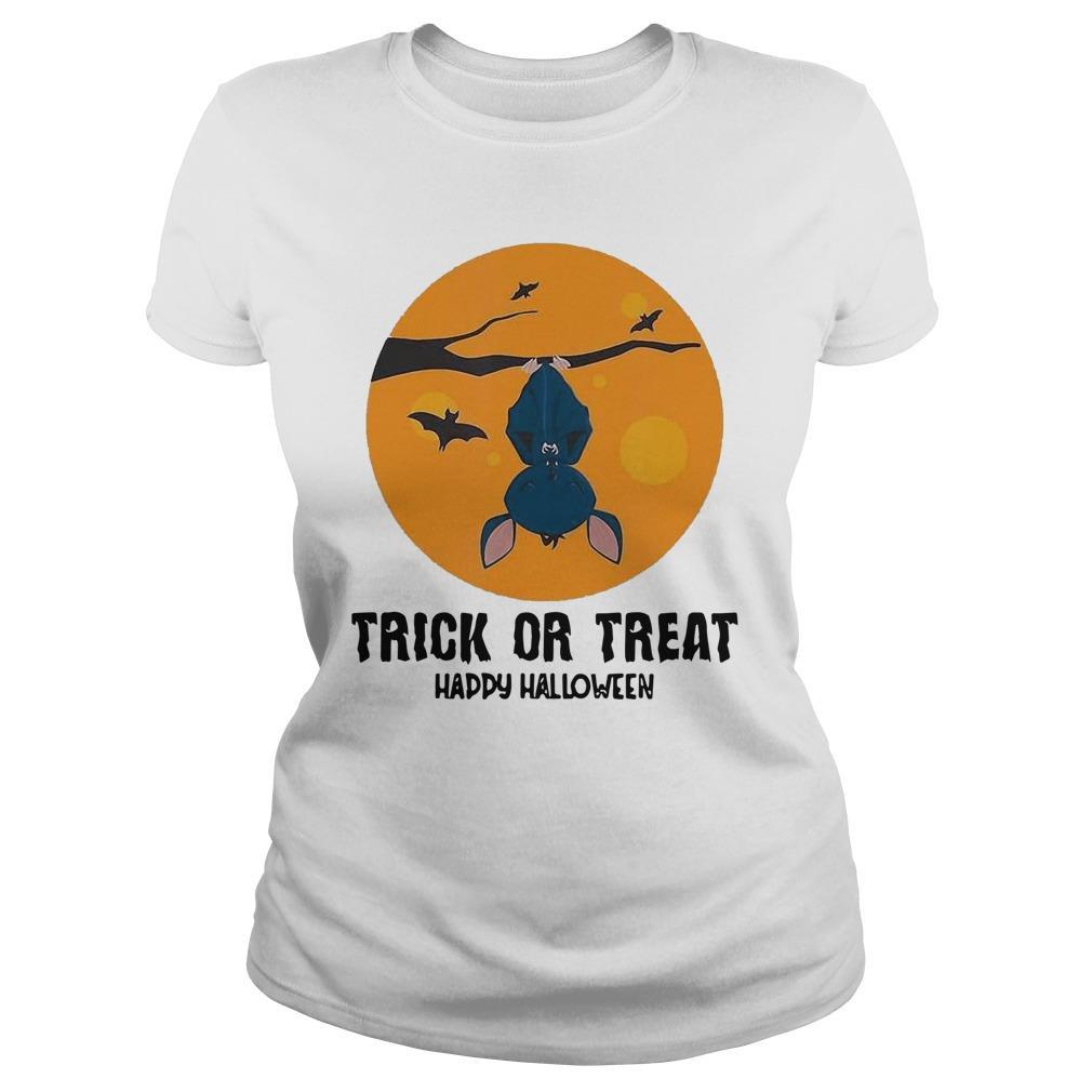 Moon Bat Trick Or Treat Happy Halloween Longsleeve