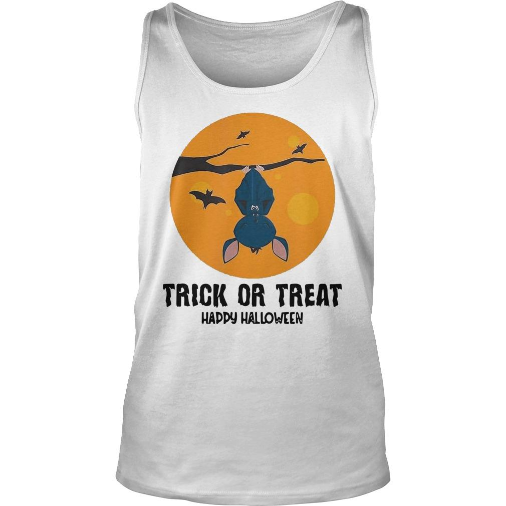 Moon Bat Trick Or Treat Happy Halloween Tank Top