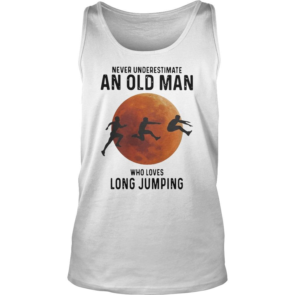 Never Underestimate An Old Man Who Loves Long Jumping Tank Top