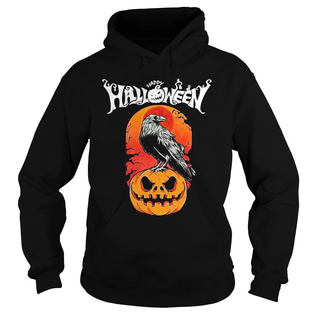 Raven Happy Halloween Hoodie