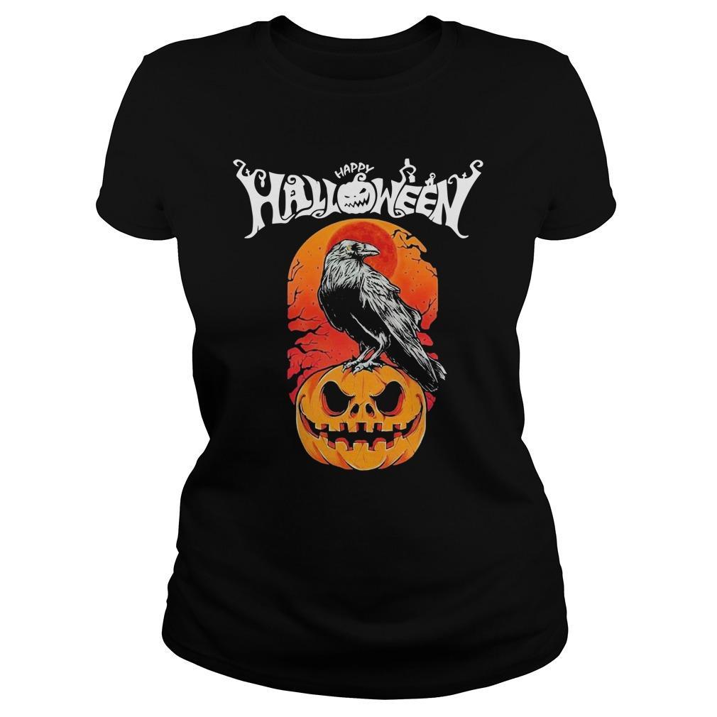 Raven Happy Halloween Longsleeve