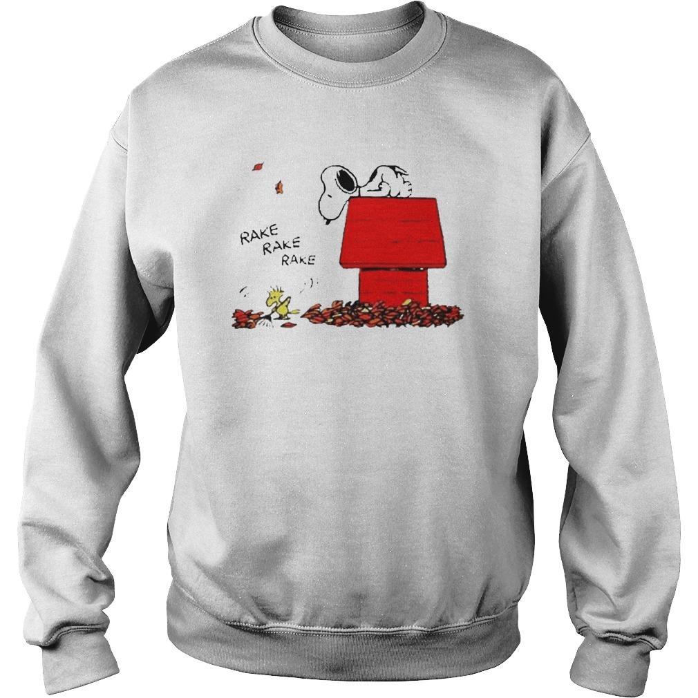 Snoopy And Woodstock Rake Rake Rake Sweater