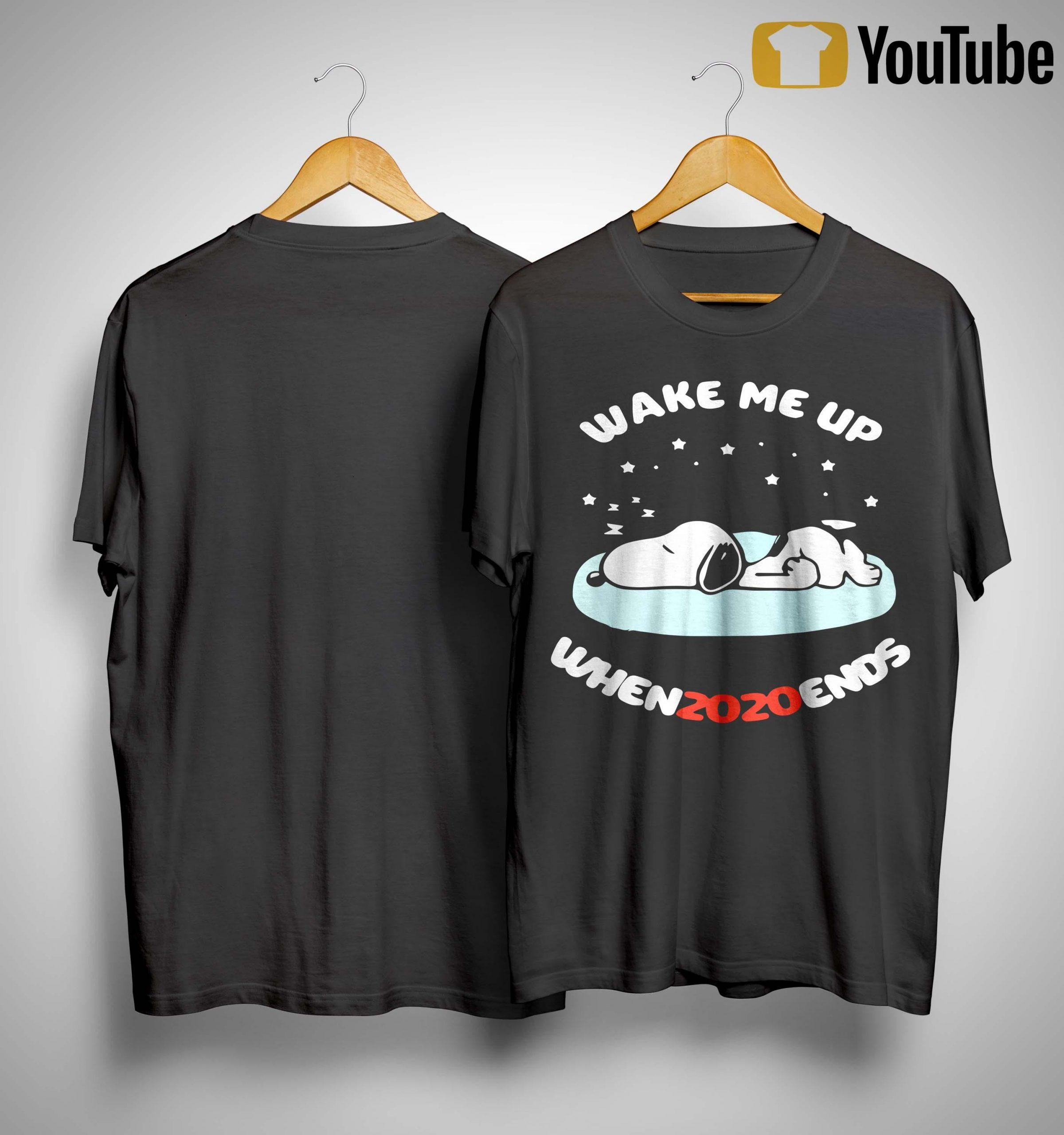 Snoopy Wake Me Up Whenzozoends Shirt