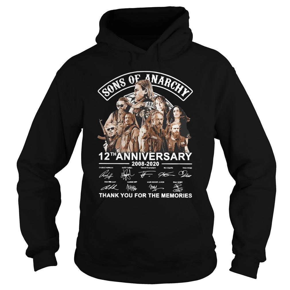 Sons Of Anarchy 12th Anniversary 2008 2020 Thank You For The Memories Hoodie