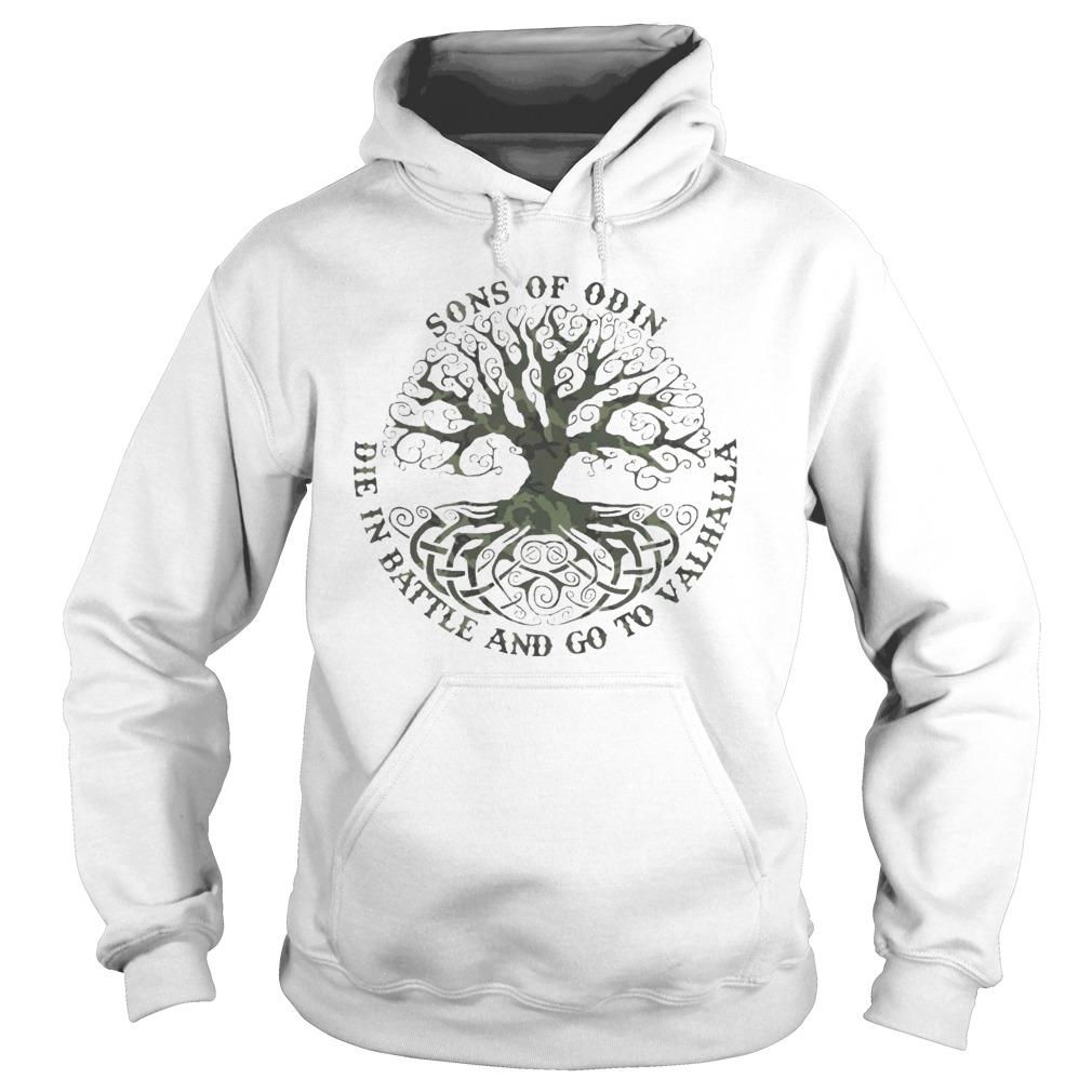 Sons Of Odin Die In Battle And Go To Valhalla Hoodie