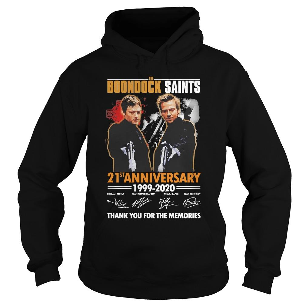 The Boondock Saints 21st Anniversary 1999 2020 Thank You For The Memories Hoodie