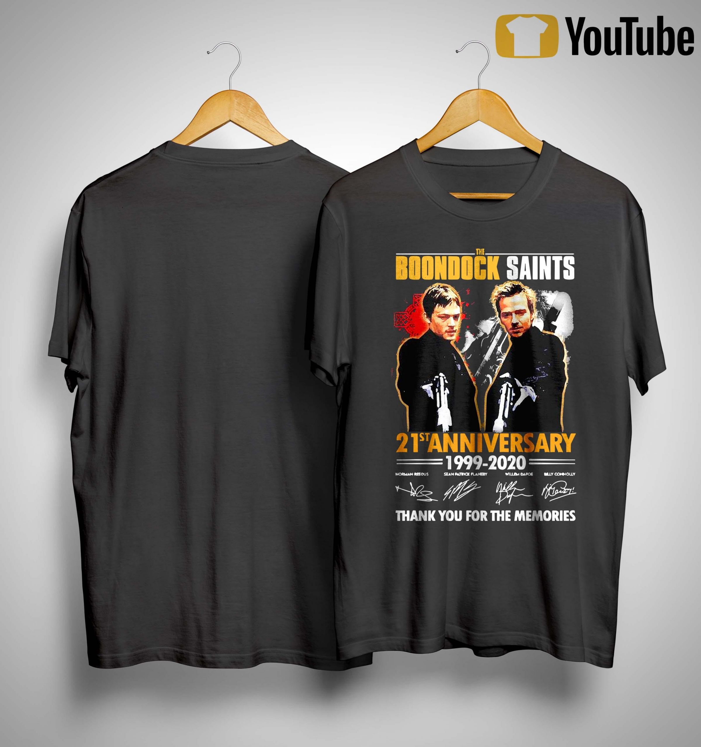 The Boondock Saints 21st Anniversary 1999 2020 Thank You For The Memories Shirt
