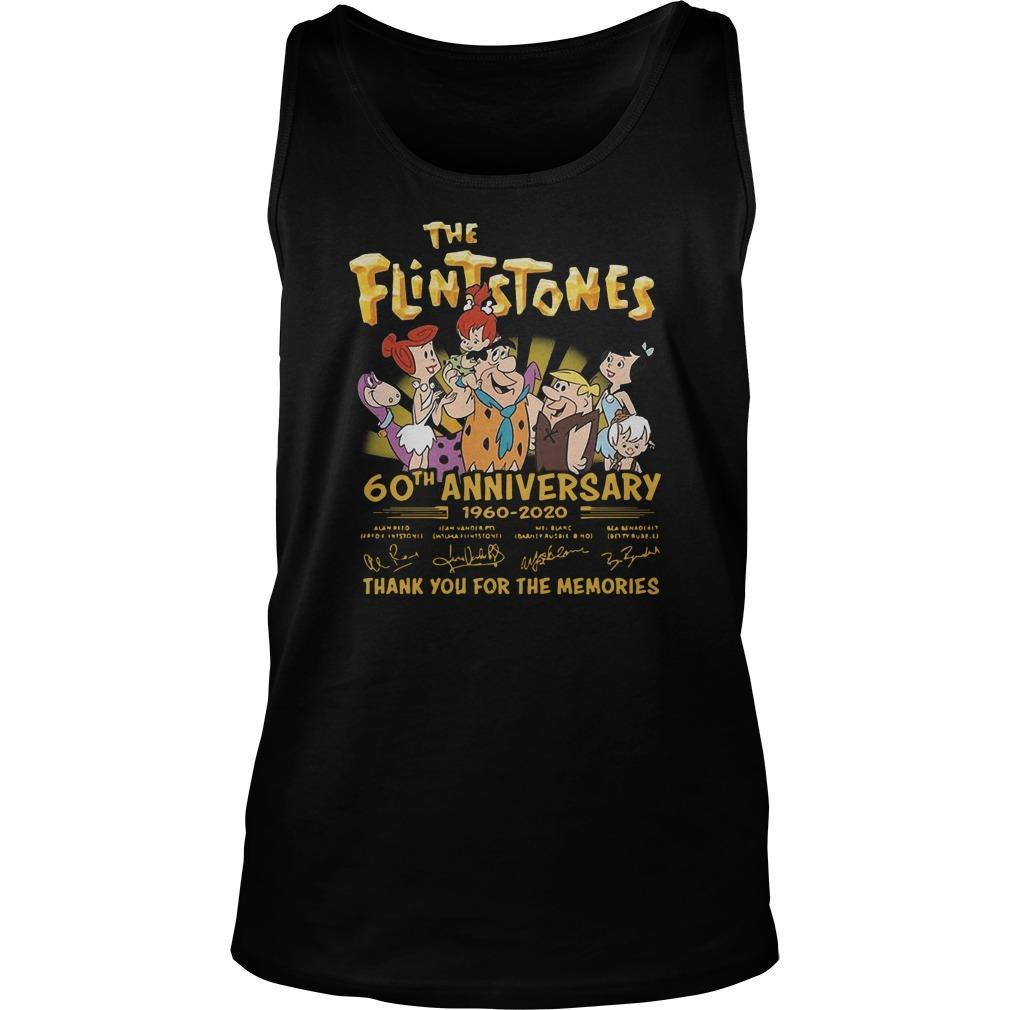 The Flintstones 60th Anniversary 1960 2020 Signatures Tank Top