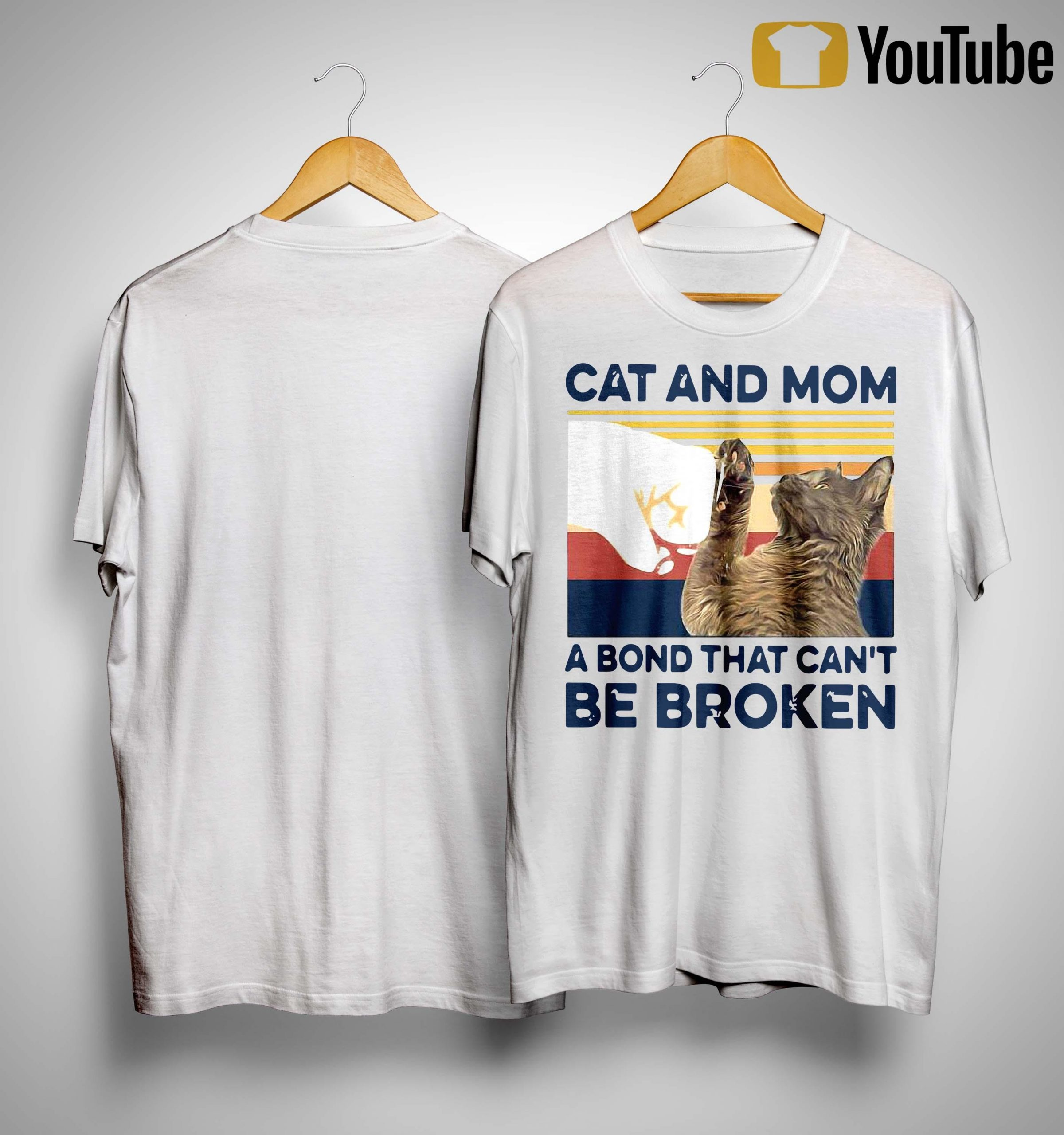 Vintage Cat And Mom A Bond That Can't Be Broken Shirt