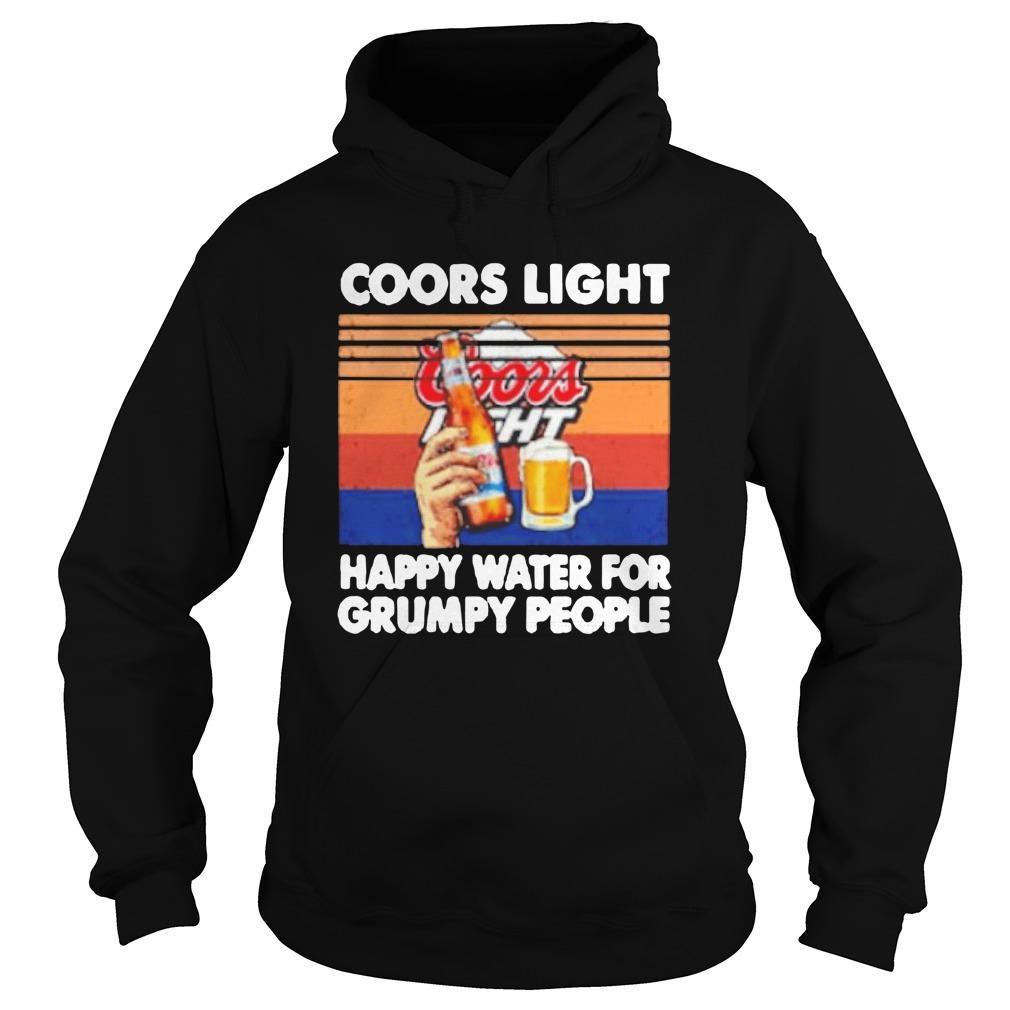Vintage Coors Light Happy Water For Grumpy People Hoodie
