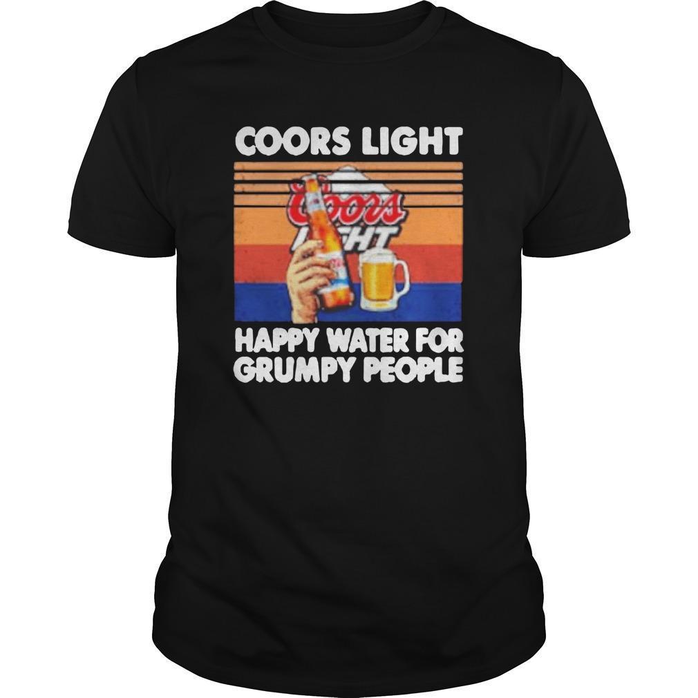 Vintage Coors Light Happy Water For Grumpy People Longsleeve