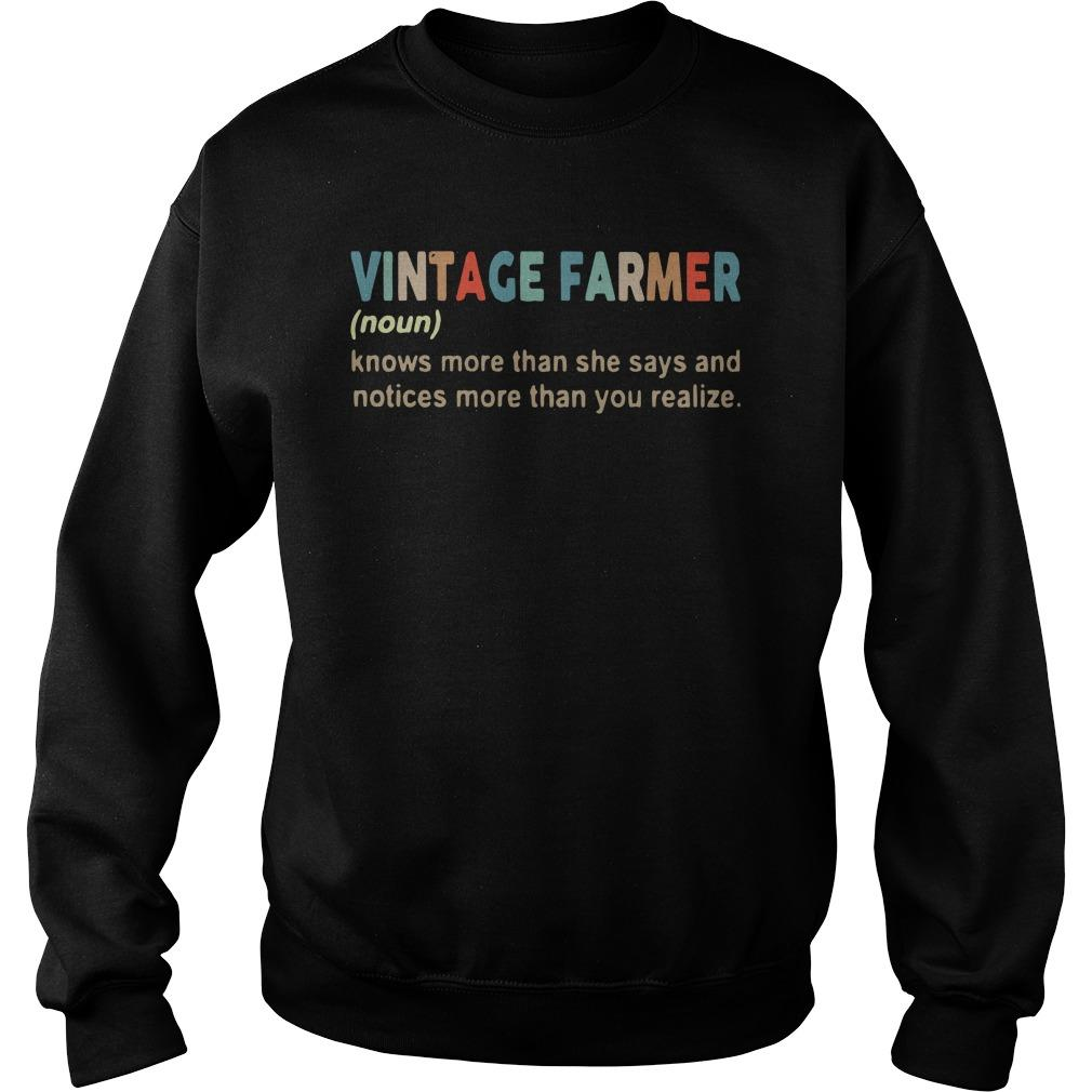Vintage Farmer Knows More Than She Says And Notices More Than You Realize Sweater