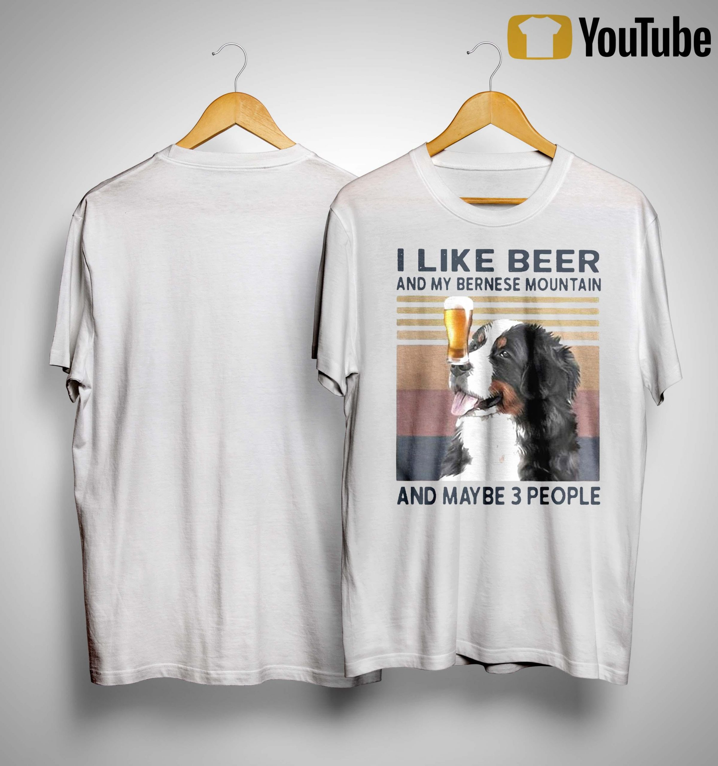 Vintage I Like Beer And My Bernese Mountain And Maybe 3 People Shirt