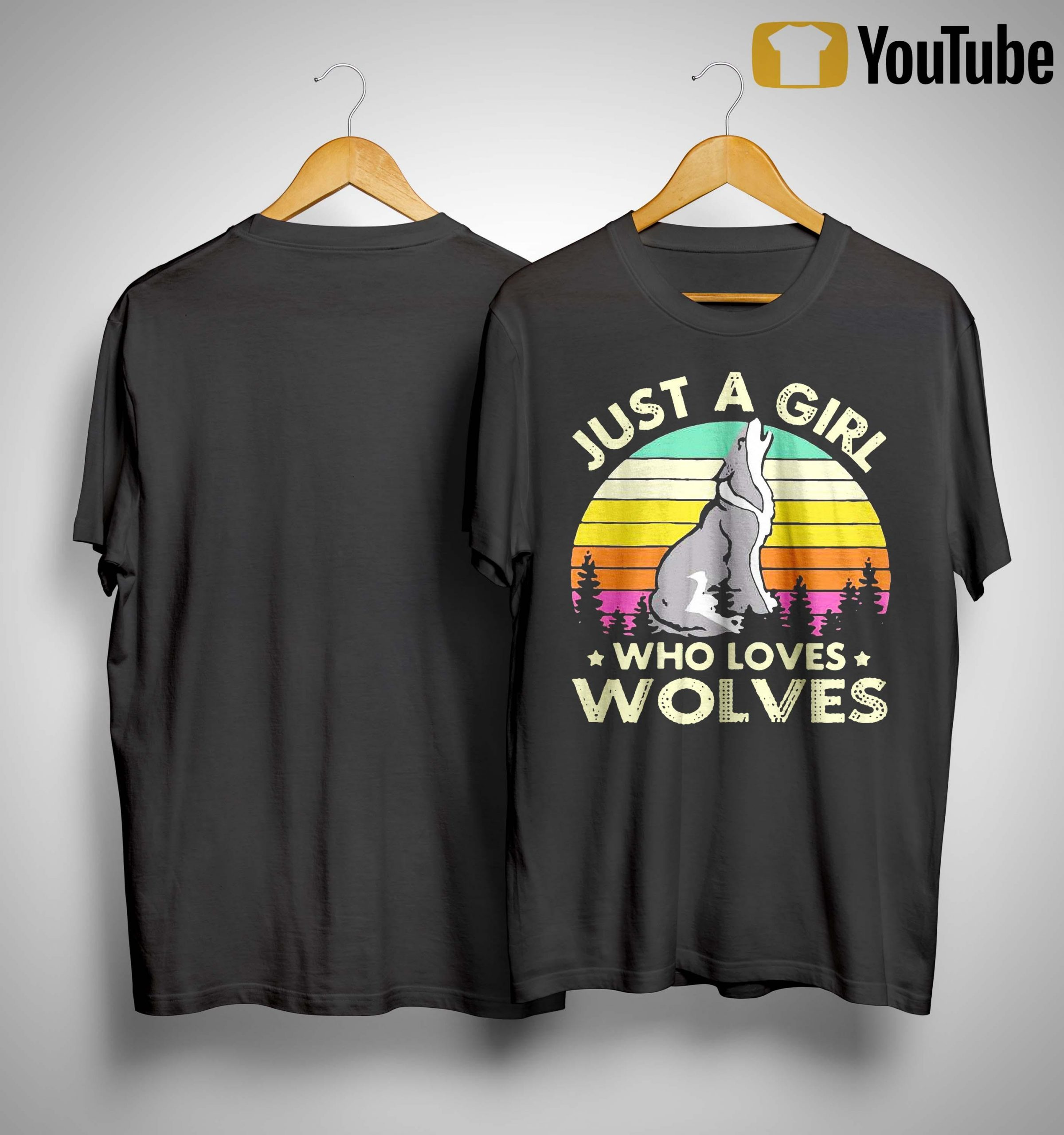 Vintage Just A Girl Who Loves Wolves Shirt