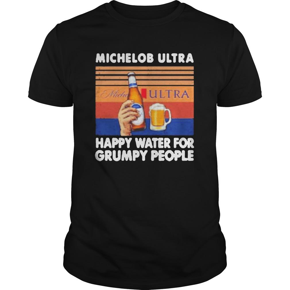 Vintage Michelob Ultra Happy Water For Grumpy People Longsleeve