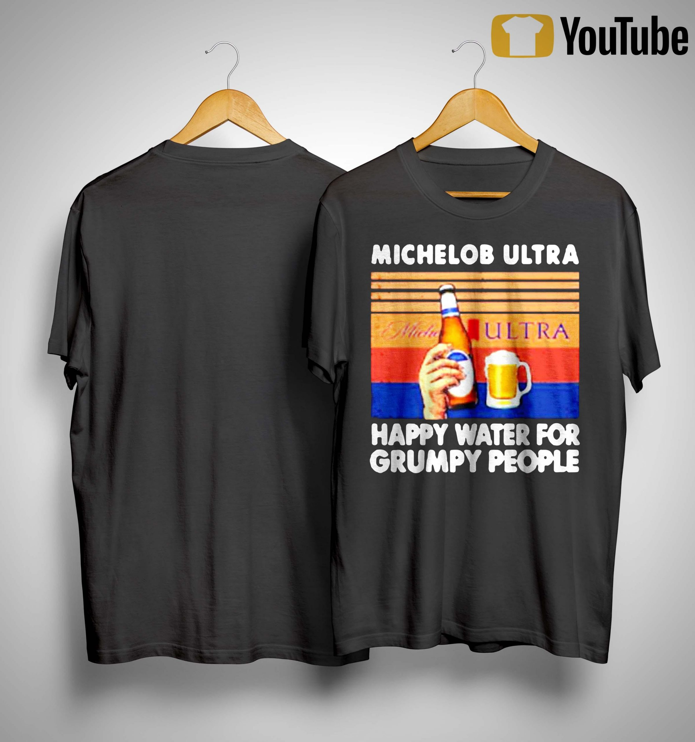 Vintage Michelob Ultra Happy Water For Grumpy People Shirt