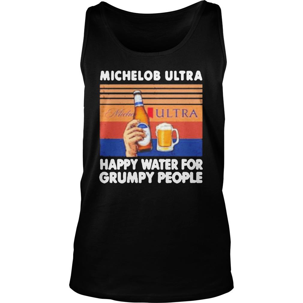 Vintage Michelob Ultra Happy Water For Grumpy People Tank Top