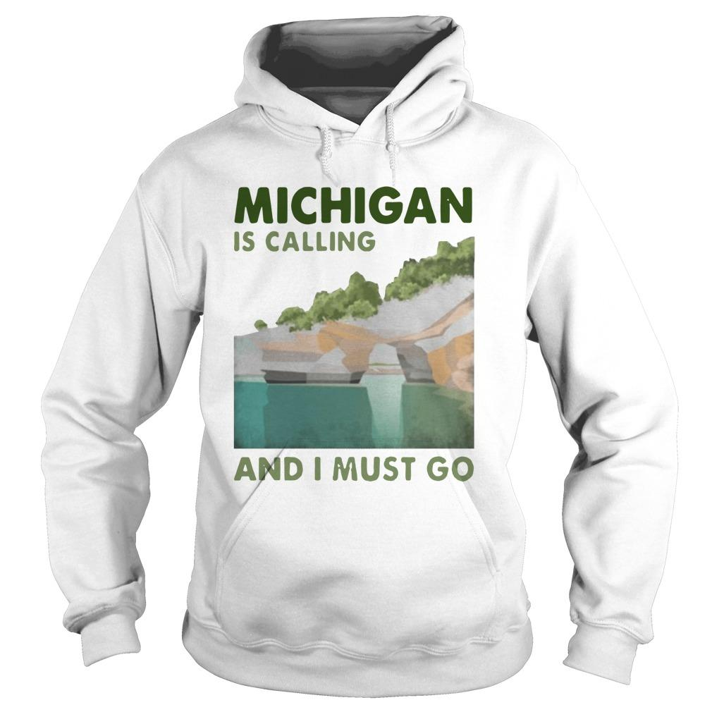 Vintage Michigan Is Calling And I Must Go Hoodie